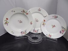 "Epiag Royal Dinner Plate(s) w/ Floral Pattern 10""; Made in Czechoslovakia"