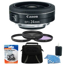 Canon EF-S 24mm f/2.8 STM Camera Lens Bundle