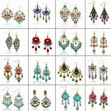Elégant Vintage Chandelier Acrylique Bohemian Tassel Dangle Boucles d'oreilles