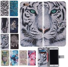 For Iphone 5C/5S/6/6 Plus Flip Card PU Leather Wallet Pouch Back Cover Case