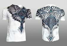 Xtreme Couture AFFLICTION Men T-Shirt LAST BLOW Tattoo Fight Biker UFC M-3XL $40