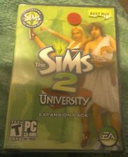 THE SIMS 2 UNIVERSITY EXPANSION PACK FOR PC W@W L@@K