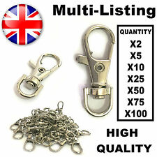 Silver Tone Small Lobster Trigger Swivel Clasps for Keyring Hook 37 x 16mm Key