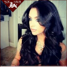 Peruvian Lace Front/Full wigs 100% Human Hair Remy Super wave 4 color 18 inch