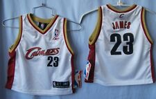CLEVELAND CAVALIERS LEBRON JAMES #23 TODDLER WHITE REEBOK JERSEY 3T 4T FREE SHIP