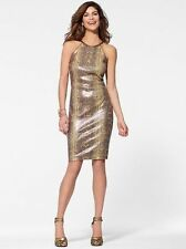 CACHE NWT Sexy Python Print Sequin Halter Cocktail Club Dress  0 XS 6 S  12  L