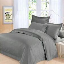 Canadian Bedding Items)- Elephant Grey (Solid/Striped) 1000TC EGYPTIAN COTTON