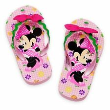 MINNIE MOUSE Flip Flops w/Optional Sunglasses Girls Toddlers Beach Sandals NWT