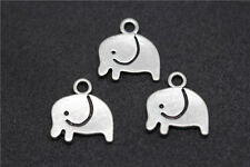 30pcs tibet silver exquisite Smooth surface small elephant jewelry charm pendant
