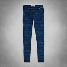 NWT Abercrombie & Fitch Women's A&F High Rise Leggings Blue all size 0202-022