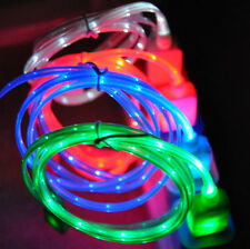 LED Light-Up Glow USB Cable Data Sync Charger Cord for iPhone 5 5S 5C 6 6 Plus