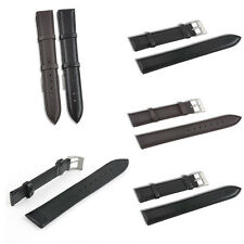 2 Colors Genuine Leather Watch Band Strap Bands Pin Black Brown 18/20/22 mm Gift