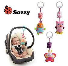 sozzy cute animal butterfly ladybug owl bed hang campanula rattle bell baby toy