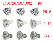 GU10 MR16 GU5.3 E27 E26 LED 3X3W LED Light 9W Bulb CREE spot ceiling Lamp white