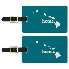 Hawaii HI Home State Luggage Suitcase ID Tags Set of 2