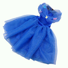 Girl Princess Cinderella Cosplay Costume Pageant Kids Party Fancy Dress FT1607