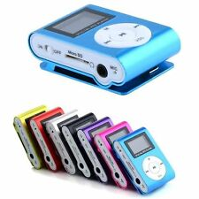 Mini USB Clip MP3 Player LCD Screen Support 32GB Micro SD TF Card FM Radio