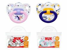 NUK Happy Days Silicone Soother Size 1 (0-6m) / Size 2 (6-18m)