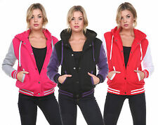 Womens New Varsity Hoodie Baseball Jacket S M L XL 2XL Quality Fleece Letterman