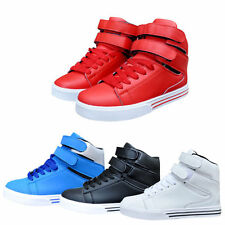 New Mens Boys Hi High Top Lace Up Casual Sports Shoes Trainers Sneakers 4 Colors