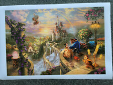 Disney art oil painting HD prints on canvas - Beauty and the Beast in love