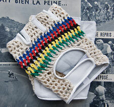 Vintage Style World Champion Track Mitts Cycling Gloves Mits L'Eroica Retro