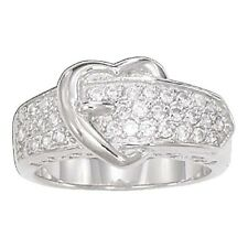 Montana Silversmiths - Ladies Heart Shaped Buckle Ring  - ( RG5CZ ) - New