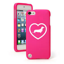 For Apple iPod Touch 4th 5th 6th Rubber Hard Case Cover Dachshund Heart