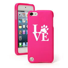 For Apple iPod Touch 4th 5th 6th Rubber Hard Case Cover Love Paw Print