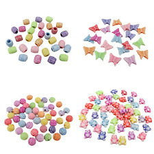 NEW ARRIVAL 100PCS MIXED COLOUR ACRYLIC BEADS - CHOOSE OF DESIGN
