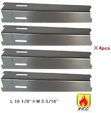 92411(4-pack) Stainless Steel Heat Plate Replacement for Select Gas Grill Models