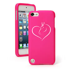 For Apple iPod Touch 4th 5th 6th Rubber Hard Case Cover Heart Horse