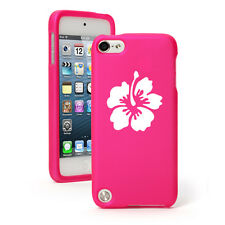 For Apple iPod Touch 4th 5th 6th Rubber Hard Case Cover Hibiscus Flower