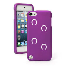 For Apple iPod Touch 4th 5th 6th Rubber Hard Case Cover Horse Shoe Tracks