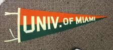 VINTAGE MIAMI HURRICANES PENNANT BANNER COLLEGE FOOTBALL