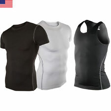 Mens Sports Compression Under Armour Baselayer Short Sleeve T-Shirt Athletic Top