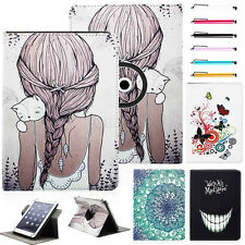 """Universal Rotating Folio Leather Case Cover for 9.7"""" ~10.1"""" inch Tablet PC W/Pen"""
