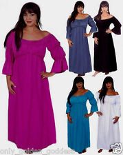 maxi dress sexy stretched flattering L XL 1X 2X ONE SIZE  pick color