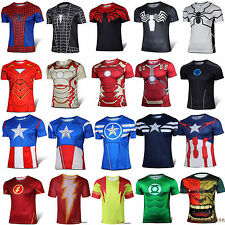 New Superhero Avengers T-shirts Hommes Sports Cyclisme Tee Top Chemises Jersey