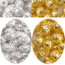 4MM 6MM 8MM 10MM 12MM Gold & Silver Plated Metal Filigree Spacer Beads & Choose