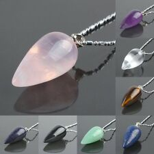 Teardrop Gemstone Pendant Bead Fit Necklace Rose Quartz/Opal/Black Onyx/Amethyst