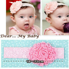 Hot Unisex Toddler Hairband Infant Kid Headdress Big Flower Lace Bow Accessories