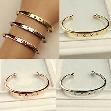 Lady's Stainless Steel Screw Head Love Lover Cuff Bangle Bracelet Wedding Party