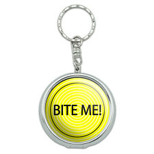 Portable Travel Size Pocket Purse Ashtray Keychain with Cigarette Holder Sayings