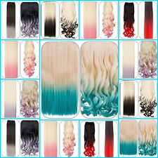 """PONYTAIL HAIRPIECE LONG 22"""" + CURLY STRAIGHT OR WAVY DRAWSTRING KOKO & STRANDED"""