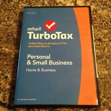 TurboTax Home and Business 2014 5 Federal & 1 State e-file Brand New Sealed