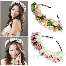 Amazing Flower Garland Bridal Headband Hairband Wedding Prom Hair Accessories