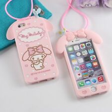 3D My Melody Sanrio Rabbit Case Cover For iPhone 4G/5G/6G/6P Samsung S6/A7/NOTE4
