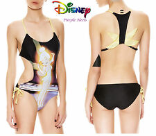 Disney Tinker Bell Peter Pan Black & Gold  Monokini Size L or XL Brand New