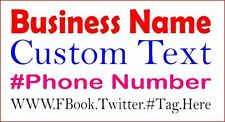 Business Ad Custom Text Cut Vinyl Decal Sticker Sign Car Window Advert Anything